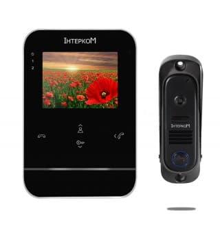 Комплект видеодомофона ІМ-11 (ІМ-01 white + ІМ-10 yellow)